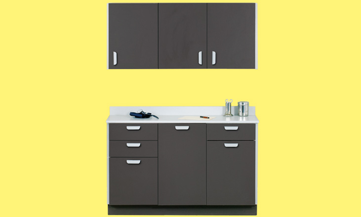 wall and base cabinet
